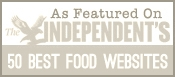 Featured in Top 50 Food Websites in the World