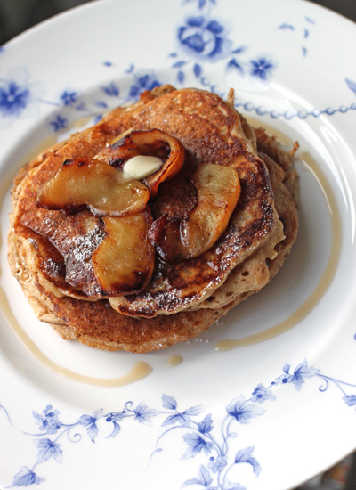 Spelt Flour Buttermilk Pancakes with Caramelised Apples — Silk Route ...