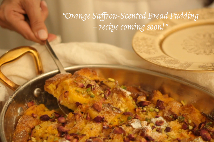 """Orange Saffron-Scented Bread Pudding – recipe coming soon!"""